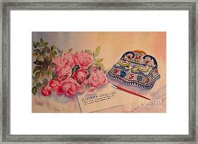 Roses From Picardie Framed Print by Beatrice Cloake