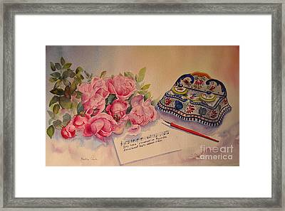 Roses Of Picardy Framed Print by Beatrice Cloake