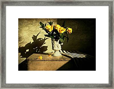 Roses On A Box Framed Print by Diana Angstadt