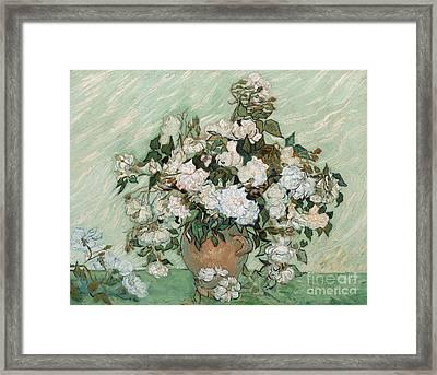 Roses Framed Print by Vincent Van Gogh