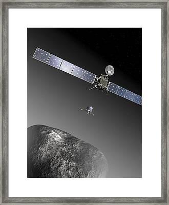 Rosetta Spacecraft Framed Print by Esa,c. Carreau,atg Medialab