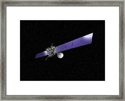 Rosetta Spacecraft Framed Print by European Space Agency,j. Huart