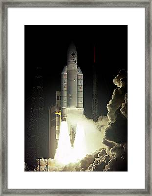 Rosetta Spacecraft Launch Framed Print by Esa/cnes/arianespace-service Optique Csg, 2004