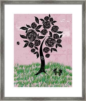 Rosey Posey Framed Print by Rhonda Barrett