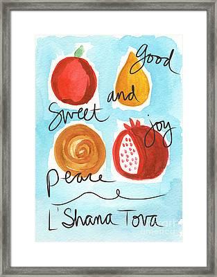 Rosh Hashanah Blessings Framed Print by Linda Woods