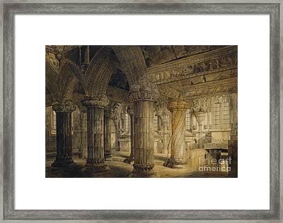 Roslyn Chapel Framed Print by Joseph Michael Gandy