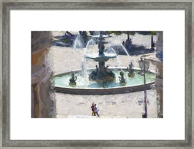 Rossio Square Lisbon Framed Print by Phil Darby