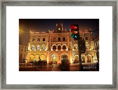 Rossio Train Station Framed Print by Carlos Caetano