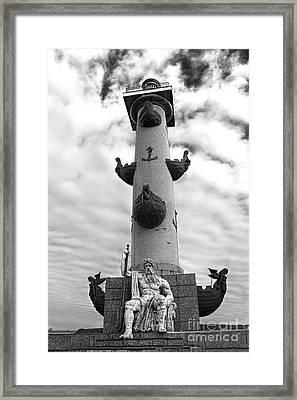 Rostral Column Framed Print by Elena Nosyreva