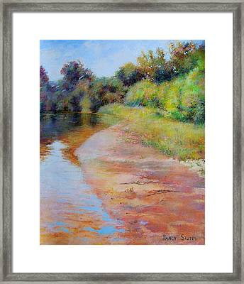 Rosy River Framed Print by Nancy Stutes