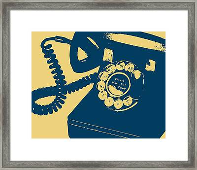 Rotary Telephone Framed Print by Flo Karp
