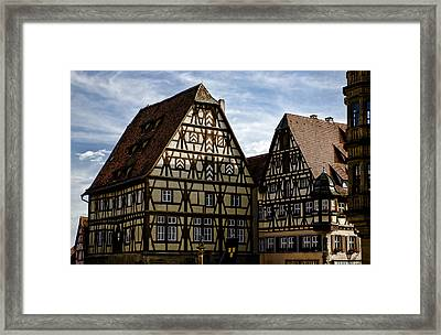 Rothenburg Architecture Framed Print by Joanna Madloch