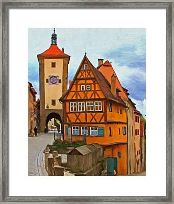 Rothenburg Framed Print by Michael Pickett
