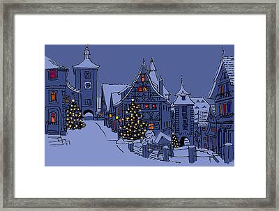 Rothenburg Ob Der Tauber Framed Print by Mary Helmreich
