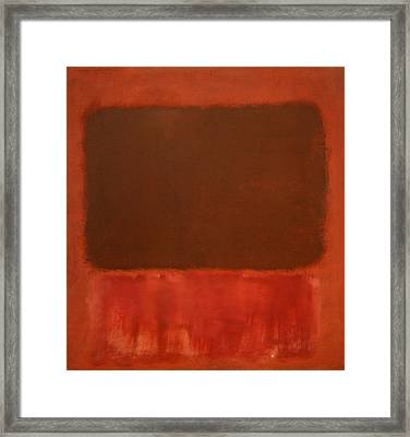 Rothko's Mulberry And Brown Framed Print by Cora Wandel