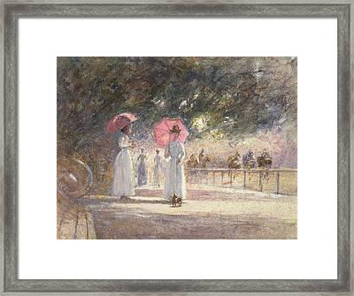 Rotten Row Framed Print by Harry Fidler