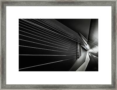 Rotterdam - Cable Style Framed Print by Michael Jurek