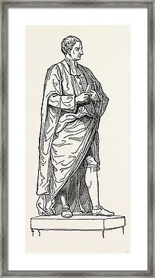 Roubiliacs Statue From The Chapel Of Trinity College Framed Print by English School
