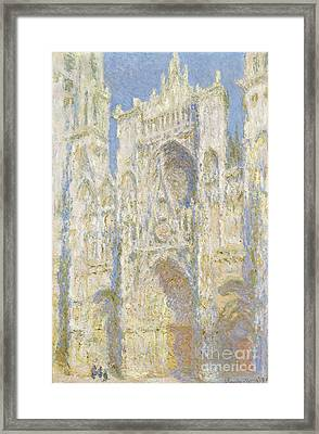 Rouen Cathedral West Facade Framed Print by Claude Monet