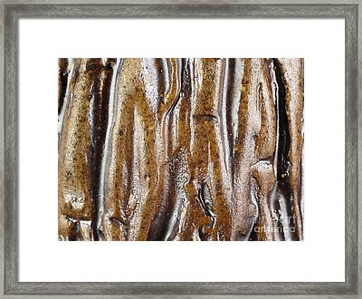 Rough Abstract Ceramic Surface Framed Print by Kerstin Ivarsson
