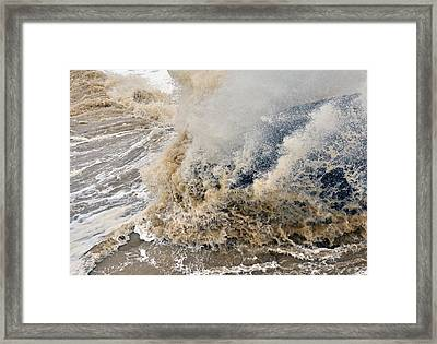 Rough Sea Framed Print by Barry Goble