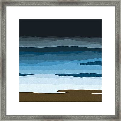 Rough Seas Framed Print by Val Arie