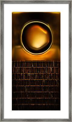 Round And Square Framed Print by Li   van Saathoff