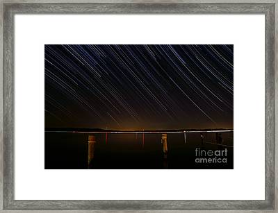 Round Bay Startrails Framed Print by Benjamin Reed