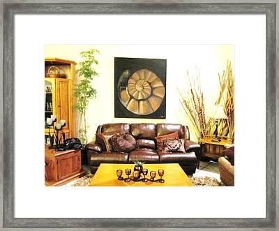 Round Shell Room Framed Print by Vickie Meza
