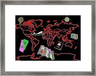 Round The World Framed Print by Daniel Janda