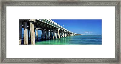 Route 1 Overseas Highway, Bahia Honda Framed Print by Panoramic Images