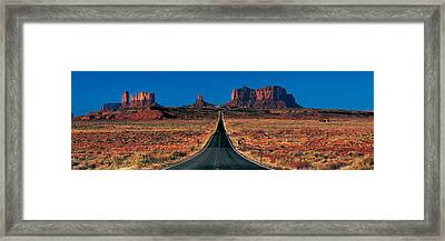 Route 163, Monument Valley Tribal Park Framed Print by Panoramic Images