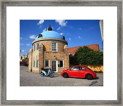 Route 66 - Blue Dome Of Tulsa Framed Print by Frank Romeo