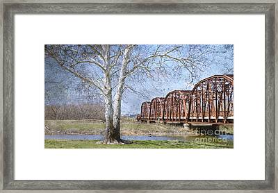 Route 66 Bridge Framed Print by Betty LaRue