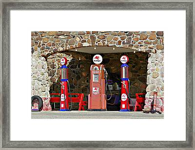 Route 66 - Cool Springs Camp Az Framed Print by Christine Till