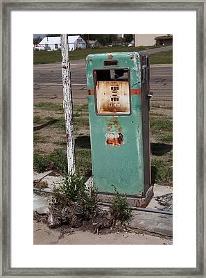 Route 66 Gas Pump - Adrian Texas Framed Print by Frank Romeo