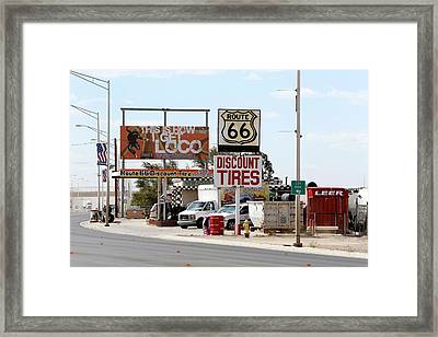 Route 66 Framed Print by Michael Szoenyi