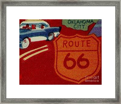 Route 66 Oklahoma City Framed Print by Gail Matthews