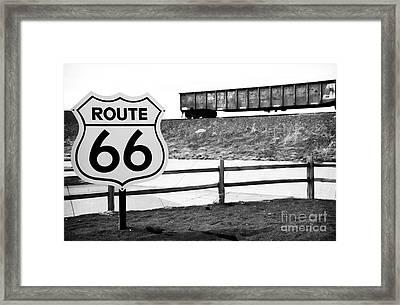 Route 66 Sante Fe Framed Print by John Rizzuto