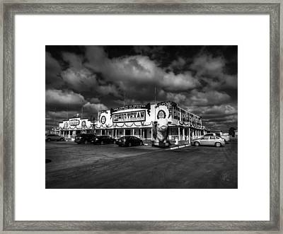 Route 66 - The Big Texan 003 Bw Framed Print by Lance Vaughn