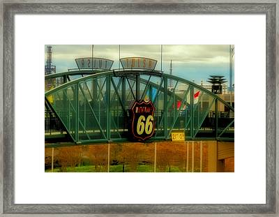 Route 66 Polaroid - Large Format - No Transfer Border Framed Print by Tony Grider