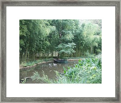 Row Boat Framed Print by Kristine Bogdanovich