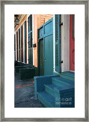 Row Colors Framed Print by John Rizzuto