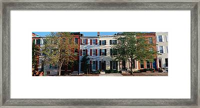 Row Homes, Philadelphia Framed Print by Panoramic Images