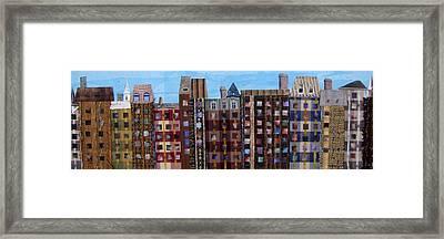 Row Houses Framed Print by Barbara Kinnick