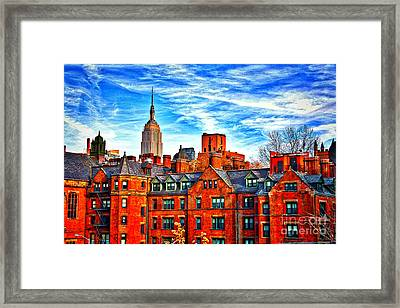 Row Houses On The Highline Framed Print by Terry Wallace