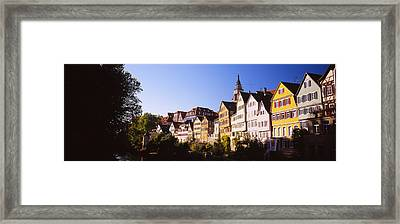Row Of Houses In A City, Tuebingen Framed Print by Panoramic Images