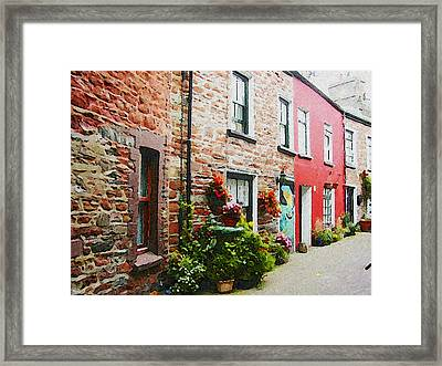 Row With Flowers Framed Print by Lenore Senior and Constance Widen