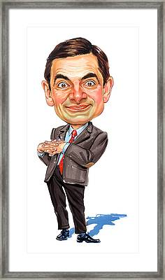 Rowan Atkinson As Mr. Bean Framed Print by Art