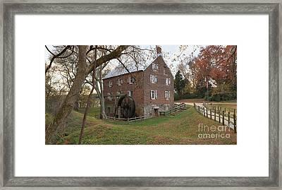 Rowan County Nc Grist Mill Framed Print by Adam Jewell